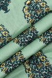 Aqua Tree Printed Cotton Screen Print Fabric