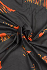 Brown Lining Printed Cotton Screen Print Fabric