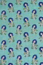Navy Blue Tree Print Screen Cotton Printed Fabric