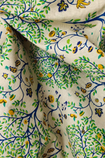 Green Tree Print Cotton Fabric