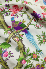 Multi Color Bird Print Digital Crepe Fabric