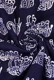 Black Elephant Print Handblock Fabric