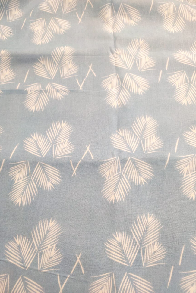 Light Blue & White Cotton Fabric