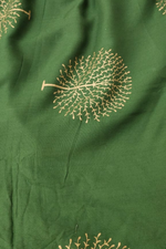 Green Rayon Gold Fabric