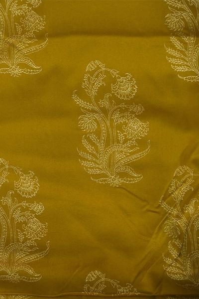 Golden Flower Printed Rayon  Fabric