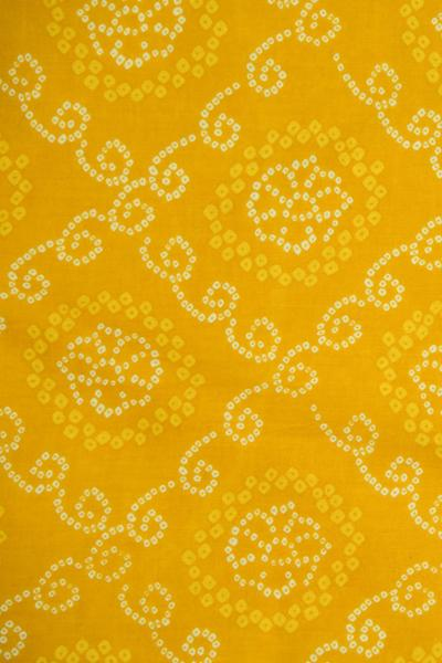 Yellow Bandhej  Printed Cotton Fabric