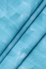 Sky Blue Abstract Print Digital Crepe Fabric