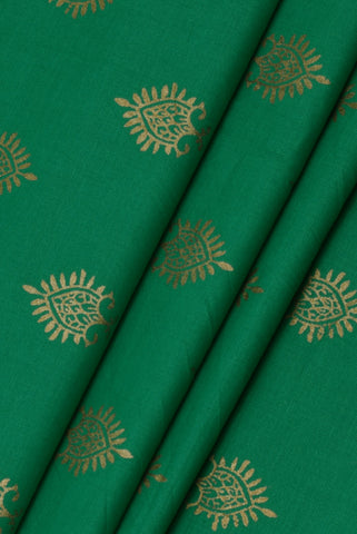 Green Butta Print Cotton Fabric
