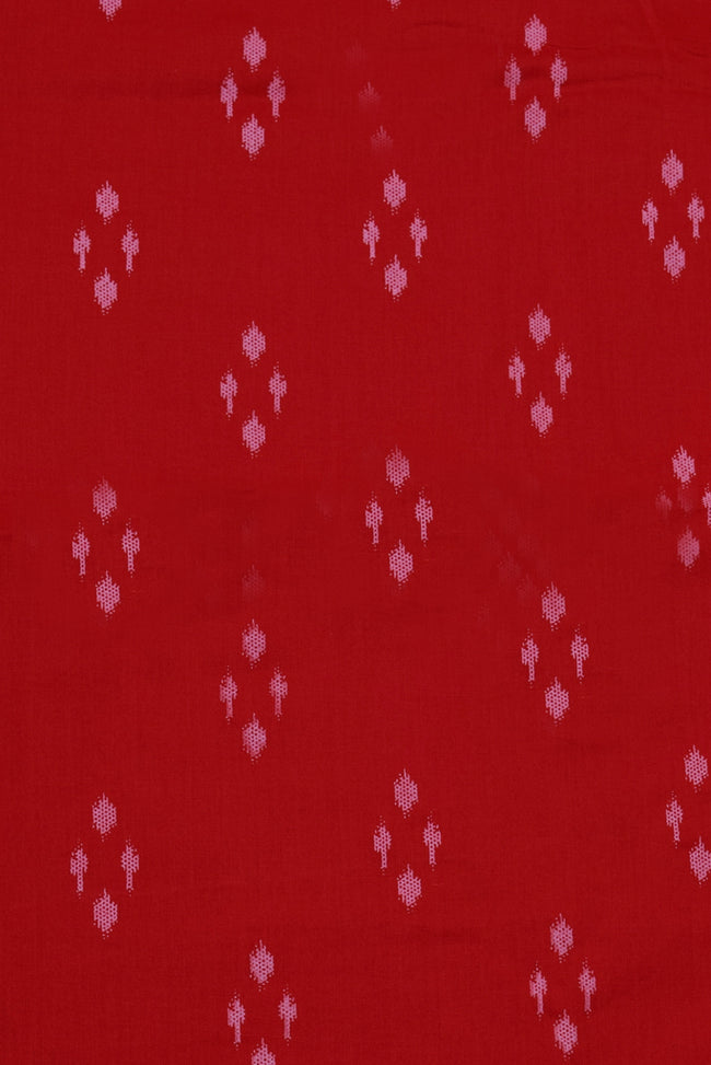 Red  Abstract Print Cotton Fabric