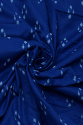 Blue Abstract Print Cotton Fabric