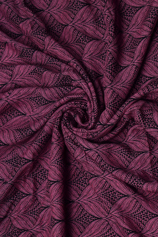 Cadillac purple Leaf Print Rayon Fabric