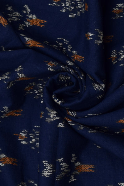 Blue currant Flower Print Cotton Fabric