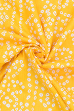 Sunglow Orange Bandhej Print Rayon Fabric