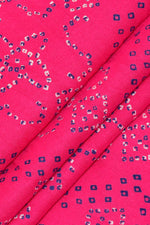 Pink Abstract Print Rayon Fabric