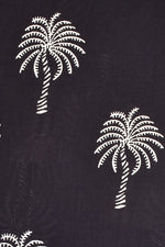Black Tree Printed Handblock Fabric
