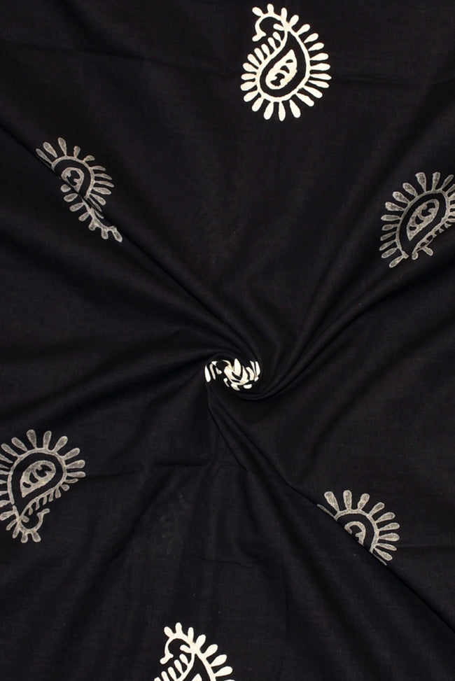 Black Butta Print Handblock Fabric
