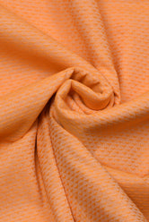 Orange Abstract Print Cotton Fabric