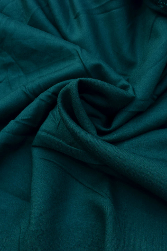 Dark Green Plain Rayon Fabric