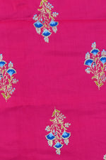 Pink Gold Flower Print Rayon Fabric