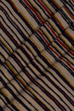 Brown Lining Print Cotton Fabric
