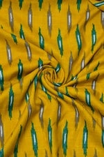 Yellow Abstract Print Rayon Fabric
