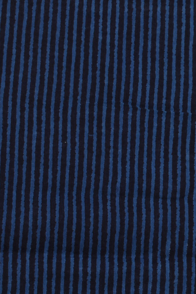Blue Stripes Print Rayon Fabric