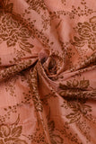 Peach Flower Taffeta Bamboo Silk Fabric