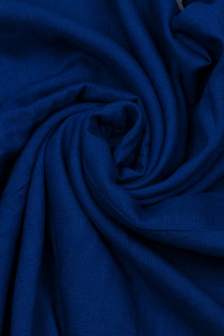 Blue Check Rayon Fabric