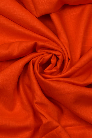 Orange Plain Rayon Fabric