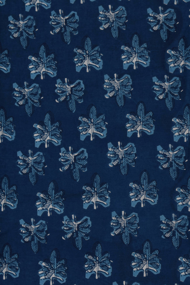 Blue Butterfly Cotton Fabric