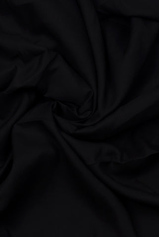 Black Plain Rayon Fabric