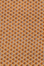 Brown Cotton Screen Print Fabric