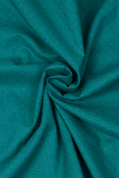 Sea Green Self Design  Fabric