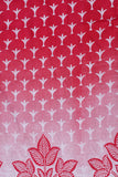 Red Leaf Screen Print Cotton Fabric