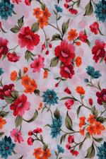 Floral Cotton Screen Print Fabric