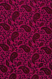 Rani Pink Leaf Screen Print Cotton Fabric