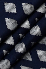 Navy Blue Diamond Print Cotton Fabric