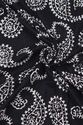 Black Butta Print Handblock Cotton Fabric