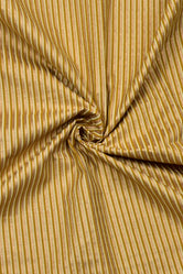 Yellow Stripes Print Rayon Fabric