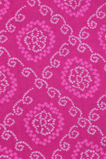 Pink Bandhej Print Cotton Fabric
