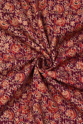 Flower Print Kantha Cotton Fabric