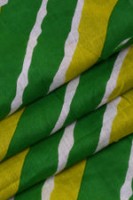 Green Leheriya Cotton Fabric