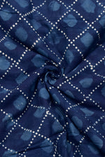 Blue Dots  Print Cotton Fabric