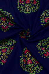 Blue Flower   Print Rayon Fabric