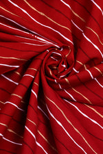 Red  Leheriya Cotton Fabric