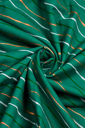 Sea Green Leheriya Cotton Fabric