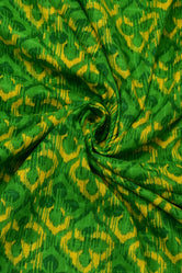 Green leaf Print Cotton Fabric