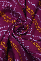 Purplei Color Bandhej Print Cotton Fabric