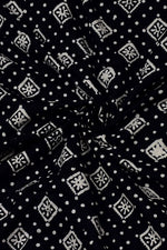 Black Flower Print Rayon Fabric