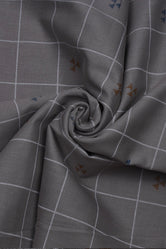 Grey Lining Printed Screen Cotton Print Fabric